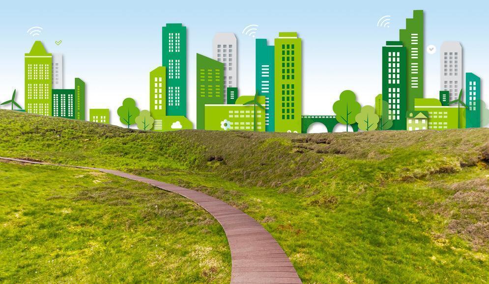 Schéma d'une ville du future